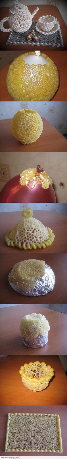 gemaakt van pasta leuk kleurtje en klaar