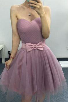 Tulle Homecoming Dress Sweetheart Homecoming Dress Bridesmaids Dress