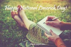 Celebrate National Limerick Day by writing funny poems. Discover your creative sides putting words into short humorous rhymes! #writing #words #NationalLimerickDay