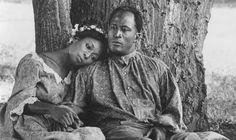 "Madge Sinclair and John Amos in ""Roots."" Amos played the older Kunta Kinte (LeVar Burton played the younger version); and Sinclair played hi..."
