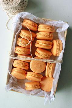 pumpkin spice macarons more spiced macarons pumpkin macarons recipe ...