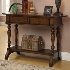 384$. Coast to Coast Imports LLC Coast to Coast Imports 2 Drawer Console Table