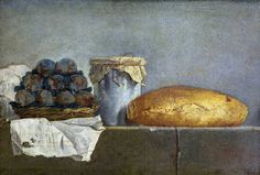 Still Life with Fruit and a Jar of Brown Earthenware by Jean-Baptiste-Simeon Chardin