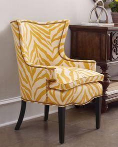 Sunflower Zebra Chair at Horchow Home Decor