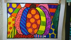 Romero Britto is possibly my favorite living artist. I just love the colors, patterns, and style to his pieces! You can imagine how excited I was to have the kids create pumpkins in the style of ...