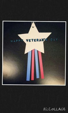 In honor of our Veterans, we are making a special patriotic star for our troops here @ Alamito's library.