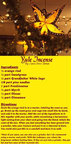 Roman's Yule Incense...☽✪☾