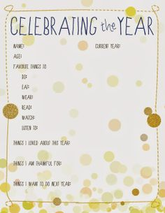 Some of the Best Things in Life are Mistakes: New Year's Eve Ideas for Kids...thanks for the idea pinterest!