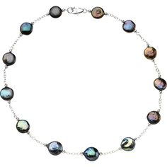 925 Sterling Silver & Freshwater Cultured Black Coin Pearl Necklace NEW Pearl Bracelet, Pearl Jewelry, Fine Jewelry, Freshwater Pearl Necklaces, Silver Jewelry, Earring Trends, Jewelry Trends, Jewelry Ideas, Coin Necklace