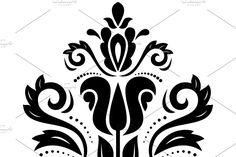 Damask Patterns, Oriental Pattern, Arabesque, Abstract Backgrounds, Floral, Art, Art Background, Flowers, Kunst