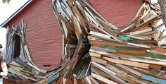 These artists turn condemned buildings being demolished into mind-bending sculptures » Lost At E Minor: For creative people