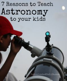 Astronomy 7 Reasons to Teach Astronomy to Your Kids - Classical Astronomy is all about practicing the lost art of using the naked eye to observe the clockwork of the heavens. Teaching Science, Science For Kids, Earth Science, Science Experiments, Activities For Kids, Helicopter Parent, Christian Homemaking, Space And Astronomy, Nature Study