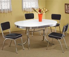 retro kitchen chairs and tables photo - 3