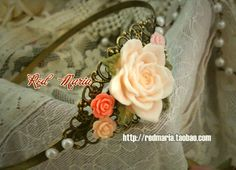 ☆☆☆ Red Maria - Rose and Pearl Headband ☆☆☆