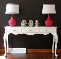 Furniture makeover - from country to contemporary