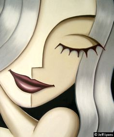 Girlfriends. Elle. Oil painting of a woman by Jeff Lyons