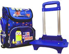 Disney, Minions, Suitcase, School Backpacks, Wheels, Suitcases, Minions Love, Briefcase, Minion
