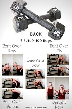 5lb dumbbell and cardio workout to tone your back muscles