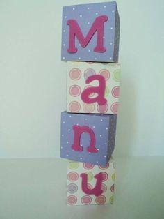 Cubos decorativos - Manu