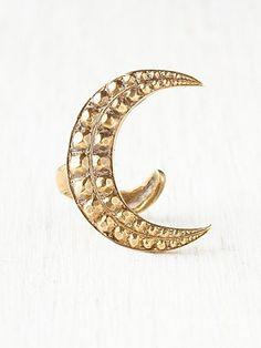 Crest Moon Wrap Ring by Alkemie #freepeople #jewelry #alkemie