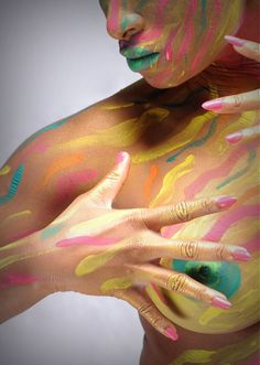 Nude Body Painting Pictures, Female Body Paintings, Female Bodies, Nude, Pintura, Artists, Drawings, Body Painting