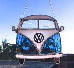 VW Campervan Retro Bus Stained Glass Suncatcher, Wall Art, Home Decor, Love Dub Gift, Volky Camper, Volkswagen, Birthday Gift Driver by MrBrinkleysStudio on Etsy