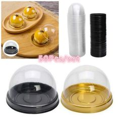 Mini Clear Plastic Cupcake Boxes Cake Packaging Boxes Muffin Pod Dome Box Baking Tools For Wedding Party 50Pcs/Set Cupcake Boxes, Box Cake, Cake Packaging, Packaging Boxes, Toothpick Appetizers, Baking Tools, Muffin, Plastic, Mini