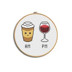 Most current Cost-Free Cross Stitch kitchen Suggestions Funny cross stitch pattern, Modern pattern pdf, Coffee embroidery, Wine Coffee lover gift, Kitchen Small Cross Stitch, Cross Stitch Kitchen, Modern Cross Stitch, Cute Cross Stitch, Cross Stitching, Cross Stitch Embroidery, Embroidery Patterns, Hand Embroidery, Funny Cross Stitch Patterns