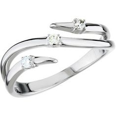 Make this an index finger ring...spectacular!  1/10 ct tw Diamond Ring | $625