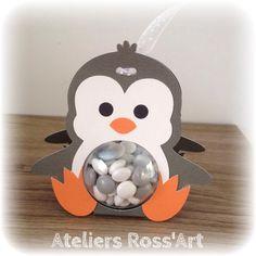 Boite à dragées originale Pingouin boule transparent 5cm : Autres bébé par ateliers-ross-art