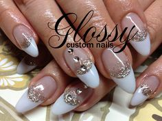 Most of them are Gel and Acrylic artificial nails but you might catch a few natural ones. Some Designs are hand painted and others are. French Manicures, Sparkle Nails, Artificial Nails, Pretty Nails, Bling, Hand Painted, Gallery, Beauty, Cute Nails