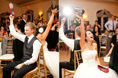 Happy with how this went at our wedding.  The Shoe Game   15 Ways To Make Your Wedding Reception Less Boring