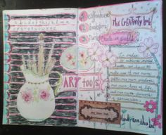The Painted Flower: more pages from my painted art journal...
