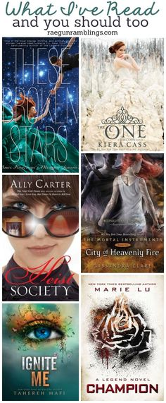 Most of them are already on my list. Except for the whole mortal instruments thing I ain't reading that