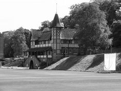 Athletics Pavilion, also known as the Cadbury Cricket Pavillion and the Coronation Cricket Pavillion (it was given in commemoration of the coronation of King Edward VII), this impressive building was a gift to the Bournville Cricket Club (from whom, I don't know) and was opened in June 1902.