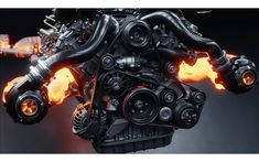 To improve my skill of designing machines, I modeled AMG biturbo Engine . Electrical Panel Wiring, Electric Car Engine, C 17 Globemaster Iii, Ghost Rider Marvel, Performance Engines, Race Engines, Weapon Concept Art, Mechanical Design, Modified Cars