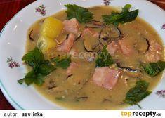 Chlebová polévka s uzeným masem a houbami recept - TopRecepty.cz Meat, Chicken, Food, Essen, Meals, Yemek, Eten, Cubs