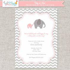 "Printable Invitation for Girl Baby Shower ""Baby of Mine"""
