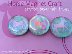 Horse party craft---> simple magnet. Frugal and beautiful!