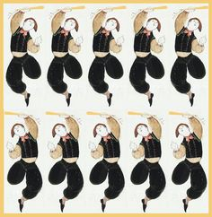 """""""On the Tenth Day of Christmas, my True Love gave to Me Ten Lords a-Leaping"""" - Baseret på kunstværker af Bjørn Wiinblad"""