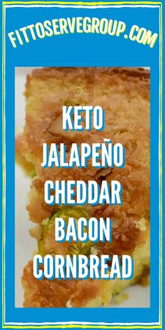This keto jalapeño cheddar bacon cornbread will fool your taste buds. Because it uses zero corn or cornmeal. Keto Corn Bread, Keto Bread Coconut Flour, Easy Keto Bread Recipe, Keto Banana Bread, No Bread Diet, Best Keto Bread, Almond Flour Recipes, Low Carb Bread, Banana Bread Recipes