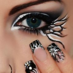 Black and White by Sara M. Click the pic to see what products she used. #beauty #makeup #bestofbeauty