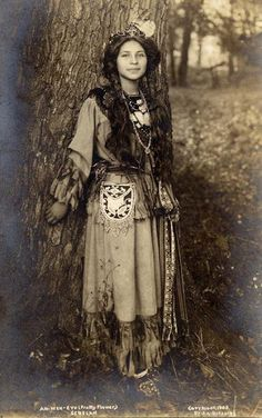 Native American named Pretty Flower - Iroquois (Seneca) – 1908