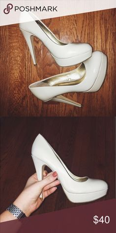 Nude Stiletto Heels Cute, nude heels that are very comfy. Also very practical. Matches any outfit G by Guess Shoes Heels