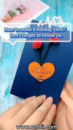 Teachers Day Card Design, Teachers Day Greeting Card, Greeting Cards For Teachers, Greeting Cards Handmade, Handmade Teachers Day Cards, Teacher Birthday Card, Diy Birthday, Birthday Cards, Birthday Gifts