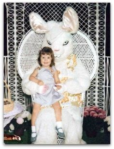 scary looking Easter bunny