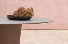 Tao dining table designed by Monica Armani Furniture Dining Table, Dining Table Design, Table And Chairs, Dining Tables, Outdoor Furniture, Outdoor Dining, Outdoor Tables, Round Table Top, Concrete Design
