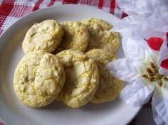 Cake Mix Lemon Pecan Cookies