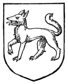 Fig. 340.—Wolf passant. Date 1909 Source A Complete Guide to Heraldry. Author  [show]Arthur Charles Fox-Davies oktouse