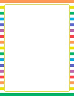 Rainbow and White Striped Border